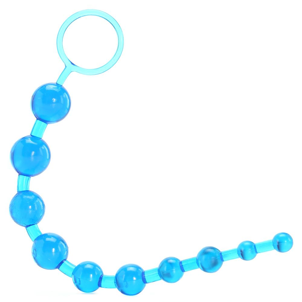 X-10 Anal Beads in Blue - Sex Toys Vancouver Same Day Delivery