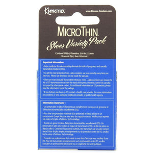 MicroThin Variety Pack Condoms in 3 Pack - Sex Toys Vancouver Same Day Delivery