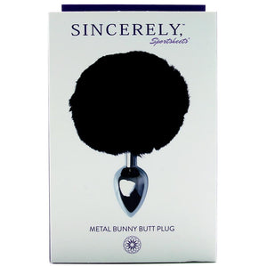 Sincerely Metal Bunny Butt Plug - Sex Toys Vancouver Same Day Delivery