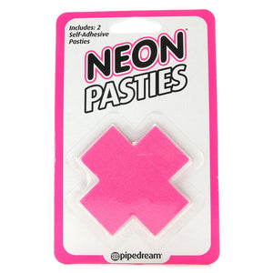 Neon Vinyl 'X' Pasties - Sex Toys Vancouver Same Day Delivery
