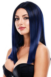 Nicole Navy Blue Wig - Sex Toys Vancouver Same Day Delivery