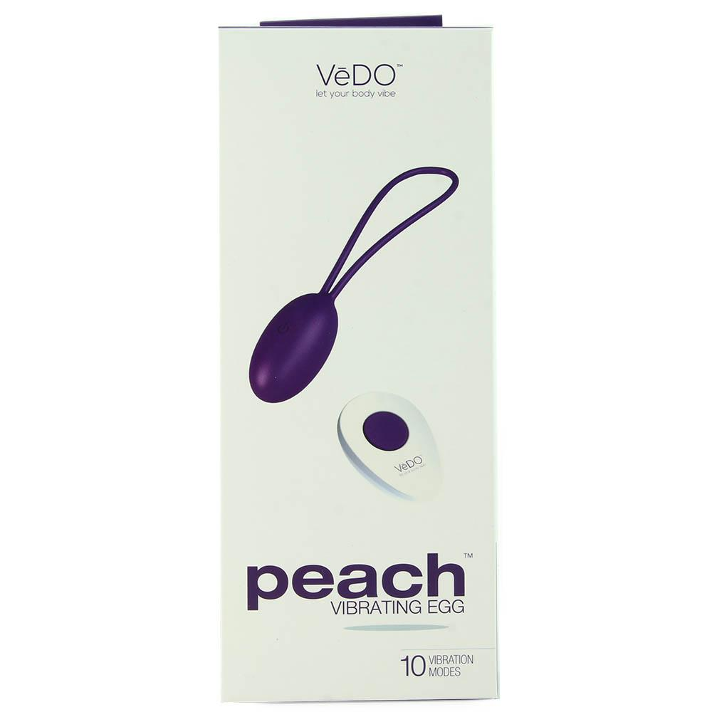 Peach Remote Vibrating Egg in Into You Indigo - Sex Toys Vancouver Same Day Delivery