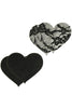 Peekaboos Satin & Lace Heart Pasties - Sex Toys Vancouver Same Day Delivery