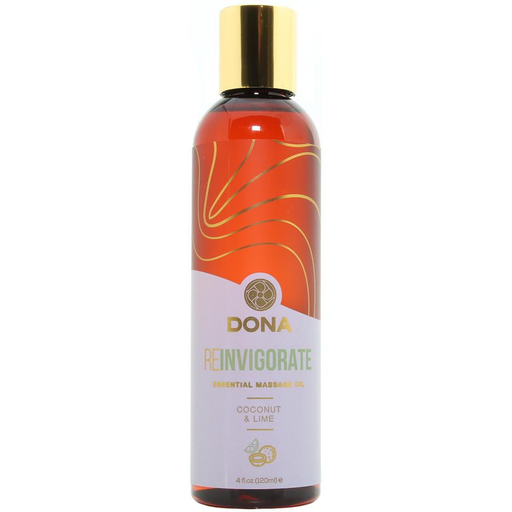 Reinvigorate Massage Oil 4oz/120ml in Coconut & Lime - Sex Toys Vancouver Same Day Delivery