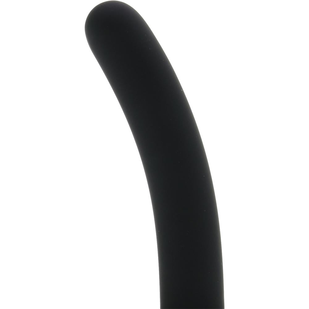 Silicone Pegging Probe in Black - Sex Toys Vancouver Same Day Delivery