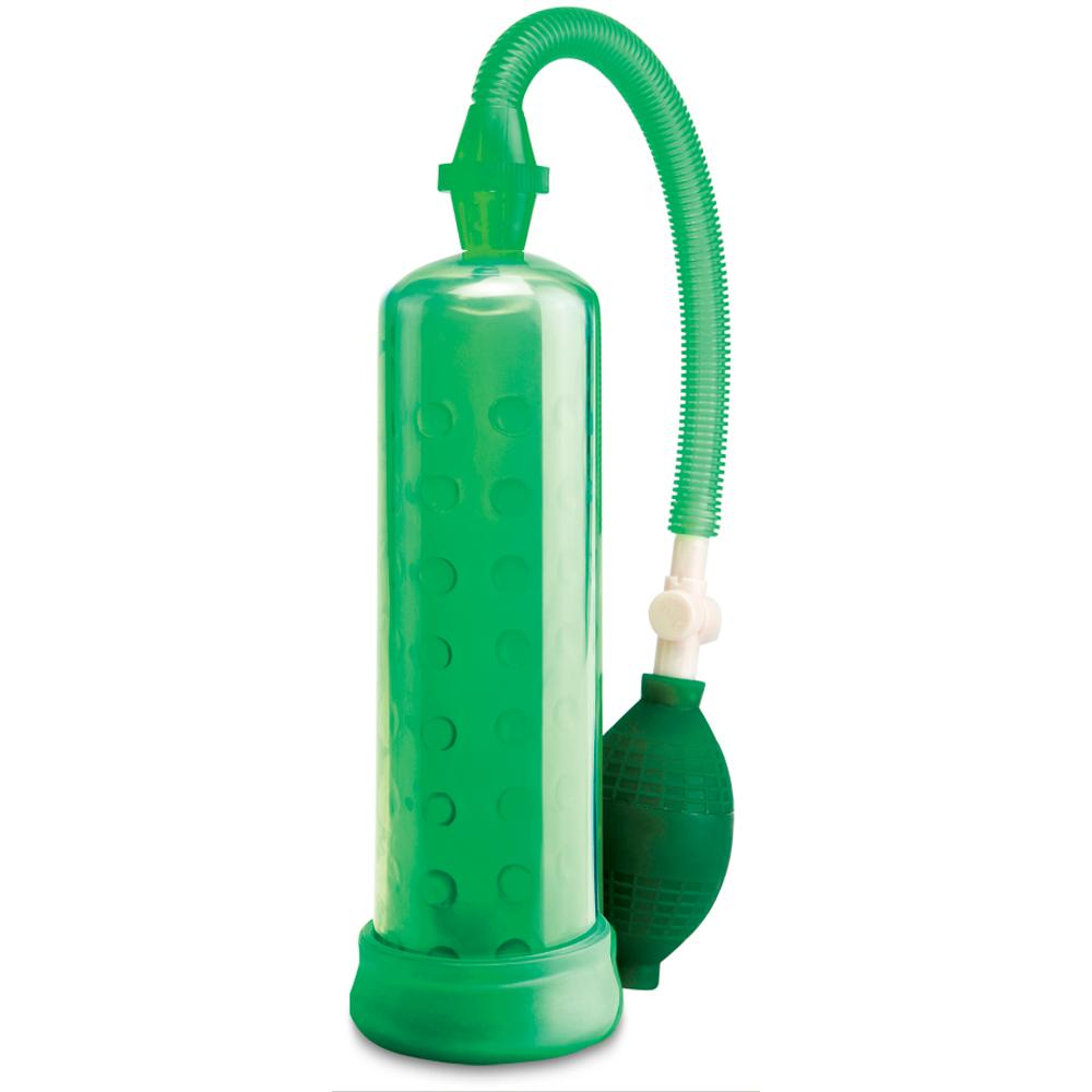 Silicone Penis Pump in Green - Sex Toys Vancouver Same Day Delivery