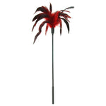 Starburst Feather Body Tickler in Red - Sex Toys Vancouver Same Day Delivery