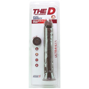 "The Realistic D 12"" ULTRASKYN Dildo in Chocolate - Sex Toys Vancouver Same Day Delivery"