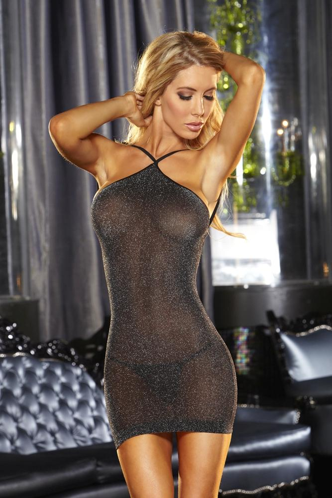VIP Black Mini Dress - Sex Toys Vancouver Same Day Delivery