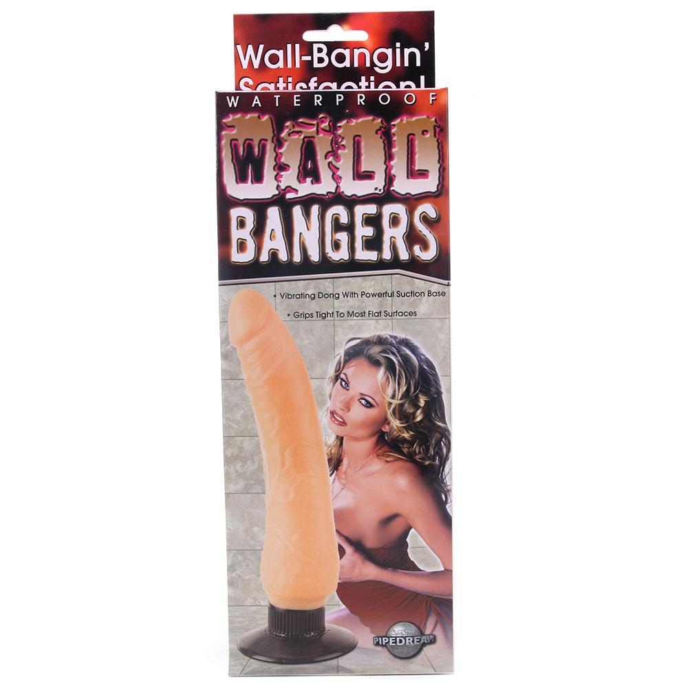 Waterproof Wall Bangers Vibrating Dildo in Flesh - Sex Toys Vancouver Same Day Delivery