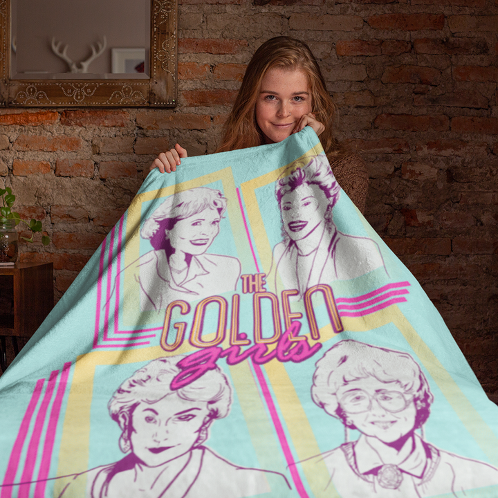 The Golden Girls Icon Portraits Sherpa Blanket