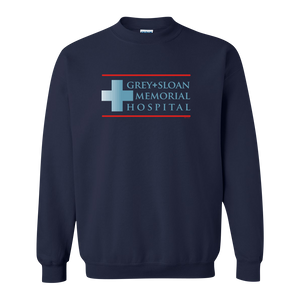 Grey's Anatomy Grey + Sloan Memorial Hospital Fleece Crewneck Sweatshirt