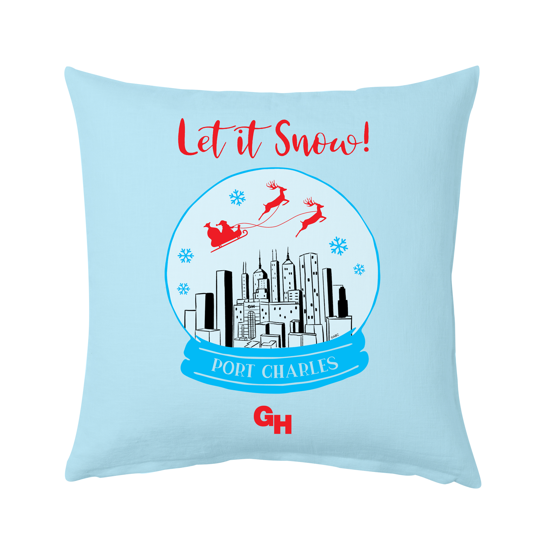 General Hospital Let It Snow Throw Pillow Abc Shop