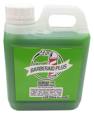 Barberaid PLUS Salon Disinfectant Soak Solution 1000ml Jerry