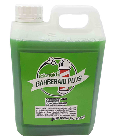 Barberaid PLUS Salon Disinfectant Soak Solution 2000ml Jerry