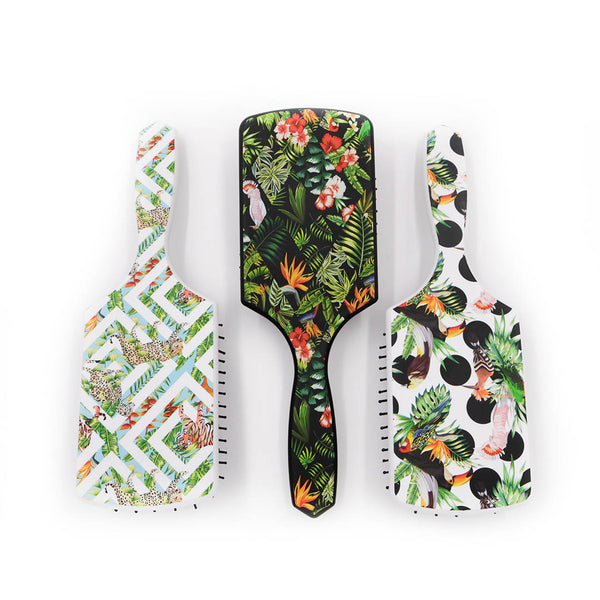 Termix Square Paddle Brush - Tropical Jungle