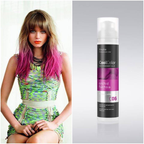 Cool Color Semi Permanent Color Cream C06 Orchid Fuchsia