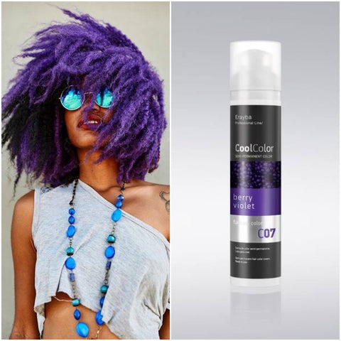 Cool Color Semi Permanent Color Cream C07 Berry Violet