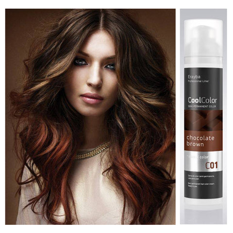 Cool Color Semi Permanent Color Cream C01 Chocolate Brown
