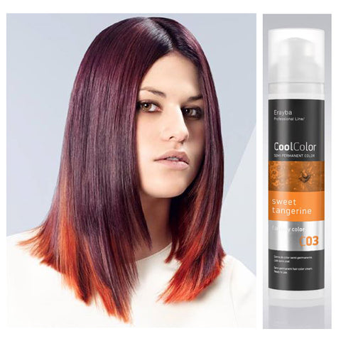 Cool Color Semi Permanent Color Cream C03 Sweet Tangerine Orange