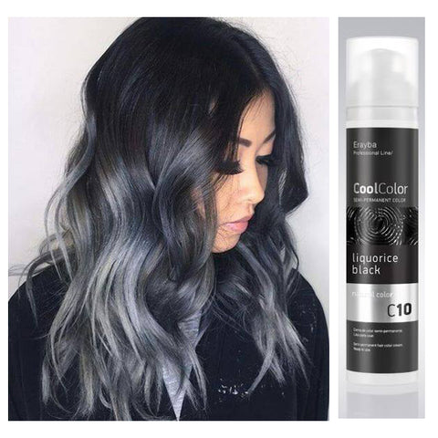 Cool Color Semi Permanent Color Cream C10 Liquorice Black