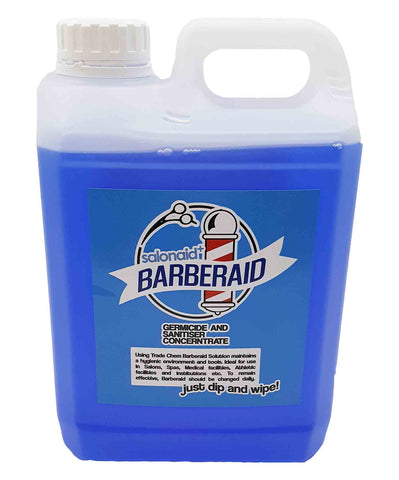 Barberaid 2000ml Jerry Sanitiser Solution - Dip & Wipe