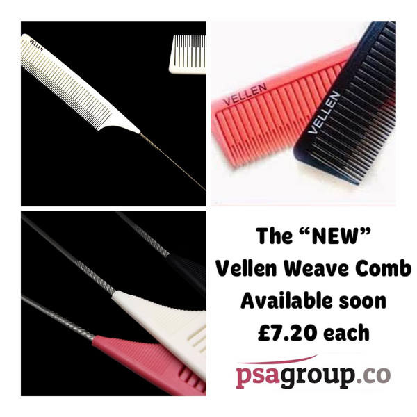 Vellen Weave Tail Comb - Perfect for High Lights - Black
