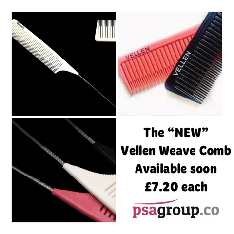 Vellen Weave Tail Comb - Perfect for High Lights - Black  AVAILABLE NOW