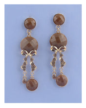 Load image into Gallery viewer, Faux stone chandelier earrings - crespo-cynergy