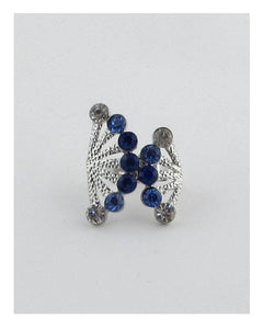 Adjustable rhinestone fan ring - crespo-cynergy