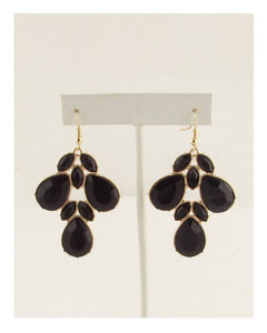 Multi-stone cluster drop hook earrings - crespo-cynergy