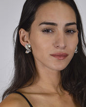Load image into Gallery viewer, S Shaped Stone and Crystal Studded Earrings id.31435 - crespo-cynergy
