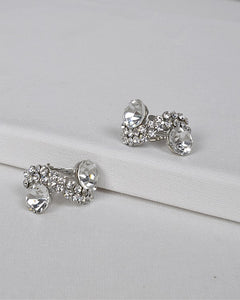 S Shaped Stone and Crystal Studded Earrings id.31435 - crespo-cynergy