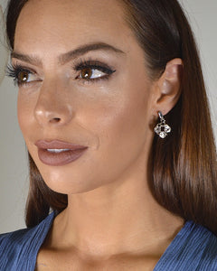 Interlinked Crystal Studded Drop Earrings - crespo-cynergy