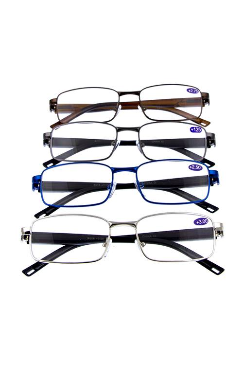 Metal fully rimmed reader glasses - crespo-cynergy