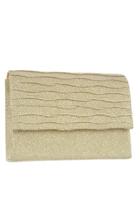 Shimmery square clutch evening bag - crespo-cynergy
