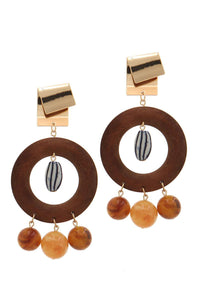 Cut out circle bead drop earring - crespo-cynergy