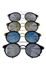 Load image into Gallery viewer, Womens rebar horned sideshield vintage inspired sunglasses - crespo-cynergy
