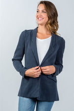 Load image into Gallery viewer, Ladies fashion one button closure blazer - crespo-cynergy