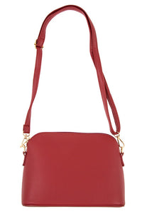 Faux leather dome crossbody bag - crespo-cynergy