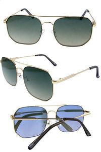 Womens box aviator rebar fashion sunglasses - crespo-cynergy