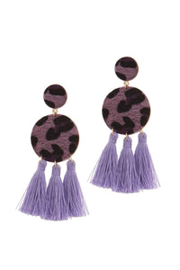 Double circle tassel post drop earring - crespo-cynergy