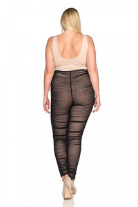 Ladies fashion plus size lace sheer jumpsuit - crespo-cynergy