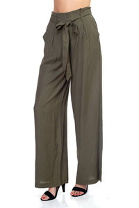 Belted Wide Leg Pants - crespo-cynergy