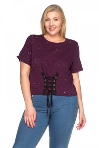 Waist lace up shirts - crespo-cynergy