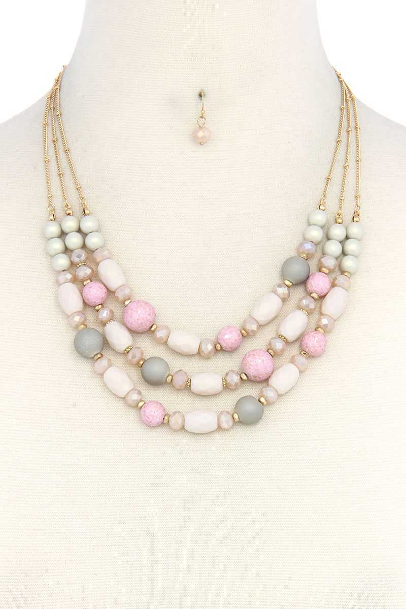 Beaded Layered Necklace - crespo-cynergy