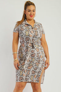 Print midi tee dress - crespo-cynergy