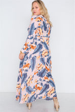 Load image into Gallery viewer, Plus size  floral print button down maxi dress - crespo-cynergy