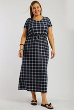 Load image into Gallery viewer, Plaid ankle length maxi dress - crespo-cynergy