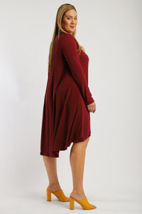 Solid loose fit dress - crespo-cynergy